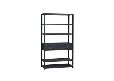Image for Midnight Wire Brushed Denim Accent Bookcase