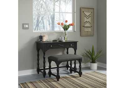 Image for Ashton Black  Accent Vanity Desk/Stool