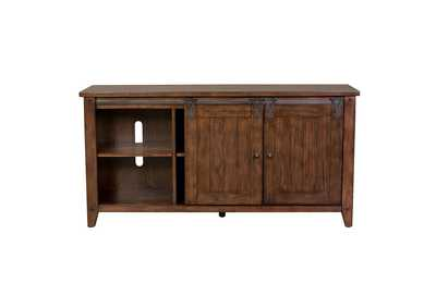 Image for Lake House Rustic Brown Oak TV Console