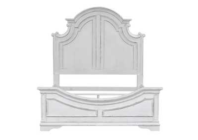 Image for Magnolia Manor Antique White King Panel Bed