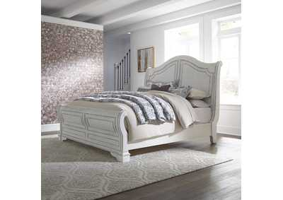 Image for Magnolia Manor White King Sleigh Bed