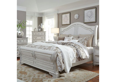 Image for Magnolia Manor White Queen Sleigh Bed