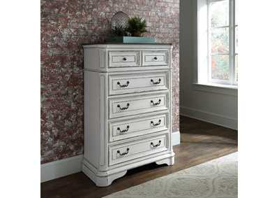 Image for Magnolia Manor Antique White 5 Drawer Chest