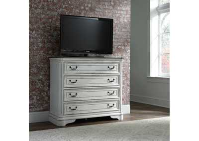 Image for Magnolia Manor Antique White Media Chest