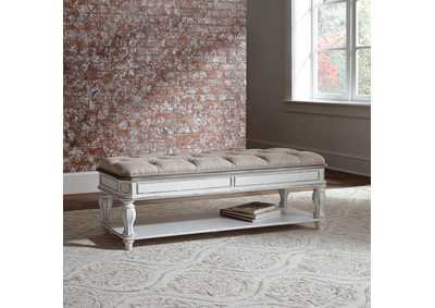 Image for Magnolia Manor Antique White Bed Bench