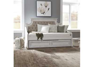 Image for Magnolia Manor Antique White Twin Trundle Bed