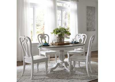Image for Magnolia Manor Antique White 5 Piece Dining Set