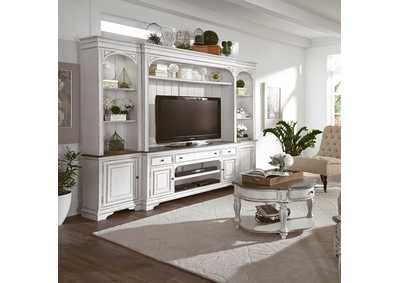 Image for Magnolia Manor White Entertainment Center w/Piers