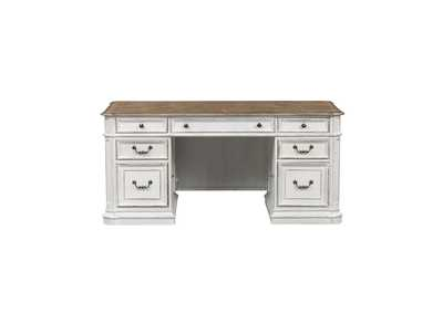 Image for Magnolia Manor Antique White Jr Executive Desk Top