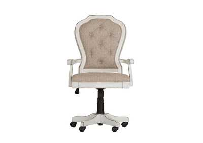 Image for Magnolia Manor Antique White Jr Executive Desk Chair