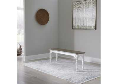 Image for Magnolia Manor Antique White  Nook Bench