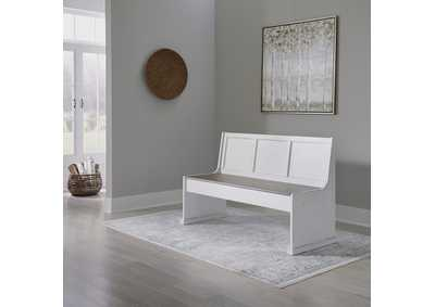 Image for Magnolia Manor Antique White  56 Inch Nook Bench