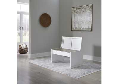 Image for Magnolia Manor Antique White  37 Inch Nook Bench