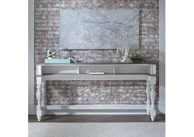 Image for Magnolia Manor Antique White Console Bar Table