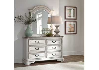 Image for Magnolia Manor White Dresser and Mirror
