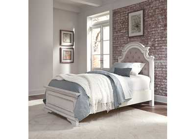 Image for Magnolia Manor Antique White Twin Upholstered Bed