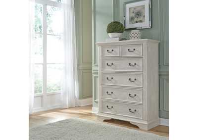 Image for Bayside Antique White 5 Drawer Chest