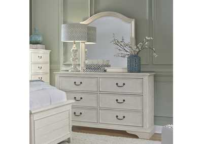 Image for Bayside White Dresser and Mirror