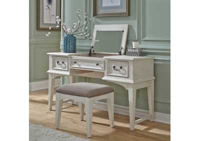 Image for Bayside Heavy Wire Brushed Antique White Vanity