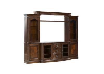 Image for Andalusia Vintage Cherry Entertainment Center w/Piers