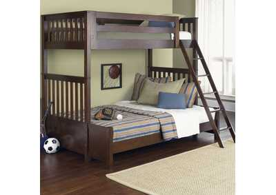 Image for Abbott Ridge Cinnamon Twin Over Full Bunkbed