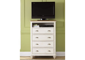 Image for Ocean Isle Youth 4 Drawer Media Chest