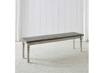 Image for Cottage Lane Antique White Dining Bench