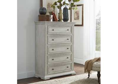 Image for Big Valley Whitestone  5 Drawer Chest