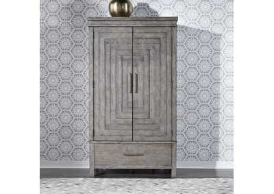 Image for Modern Farmhouse Dusty Charcoal Armoire