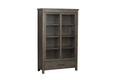 Image for Modern Farmhouse Dusty Charcoal Display Cabinet