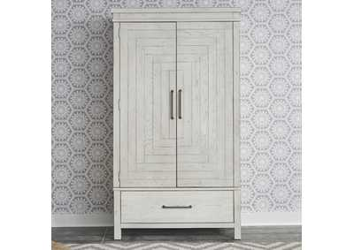 Image for Modern Farmhouse Flea Market White Armoire