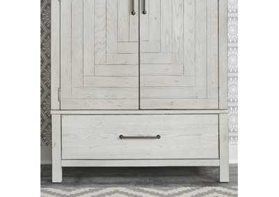 Image for Modern Farmhouse Flea Market White  Armoire Base