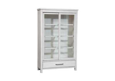 Image for Modern Farmhouse Flea Market White Display Cabinet
