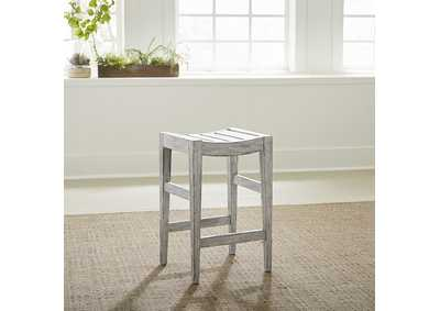 Image for Color Nook - White stone Counter Height Barstool (RTA)