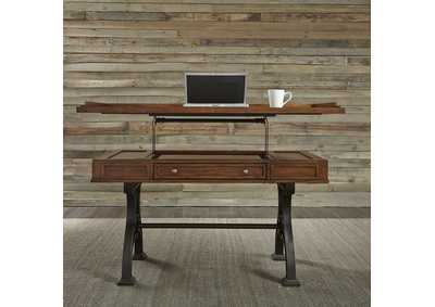 Image for Arlington House Cobblestone Brown Lift Top Writing Desk