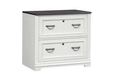 Image for Allyson Park Wirebrushed White Bunching Lateral File Cabinet