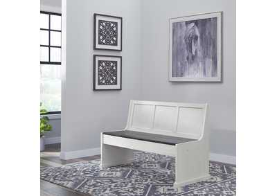 Image for Allyson Park Wirebrushed White  56 Inch Nook Bench