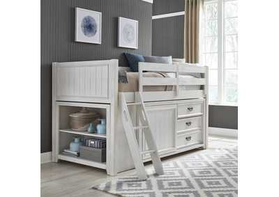 Image for Allyson Park Wirebrushed White Twin Loft Bed