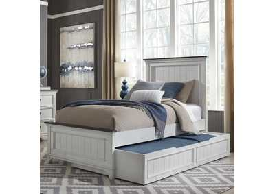Image for Allyson Park Wirebrushed White Twin Trundle Bed