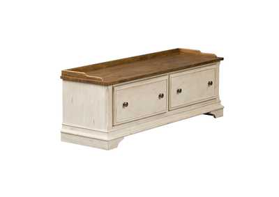 Image for Morgan Creek Antique White Storage Hall Bench