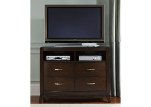 Image for Avalon Dark Truffle Media Chest