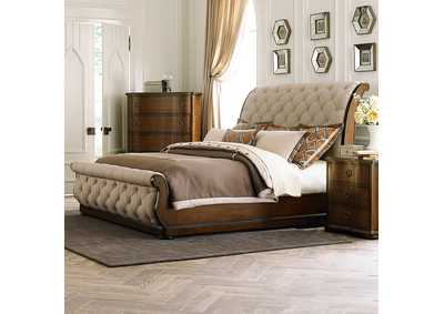 Image for Cotswold Cinnamon Queen Sleigh Bed