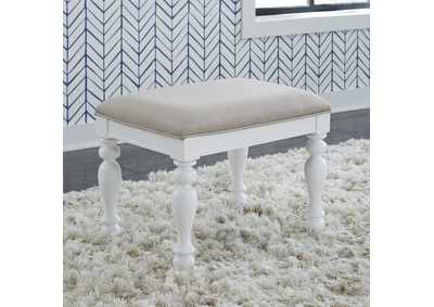 Image for Summer House I White Vanity Stool