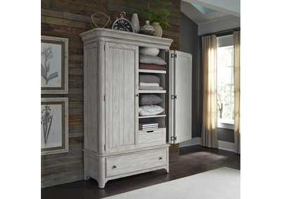 Image for Farmhouse Reimagined Antique White Armoire
