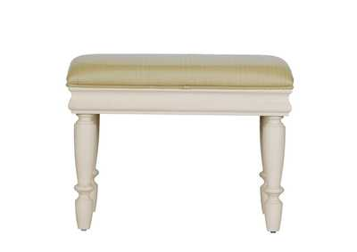 Image for Rustic Traditions II White Vanity Stool