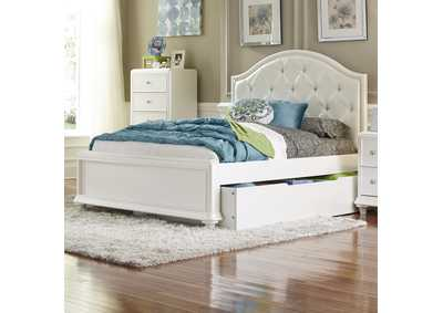 Image for Stardust Iridescent White Twin Trundle Bed