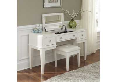 Image for Stardust Iridescent White Vanity