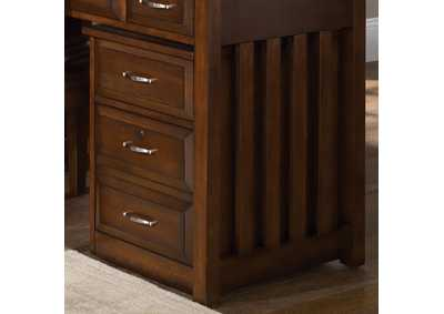 Image for Hampton Bay Cherry Mobile File Cabinet
