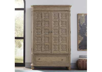 Image for The Laurels Weathered Stone Armoire
