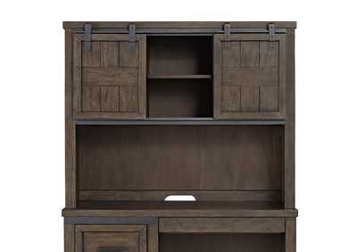 Image for Thornwood Hills Rock Gray Double Barn Door Hutch